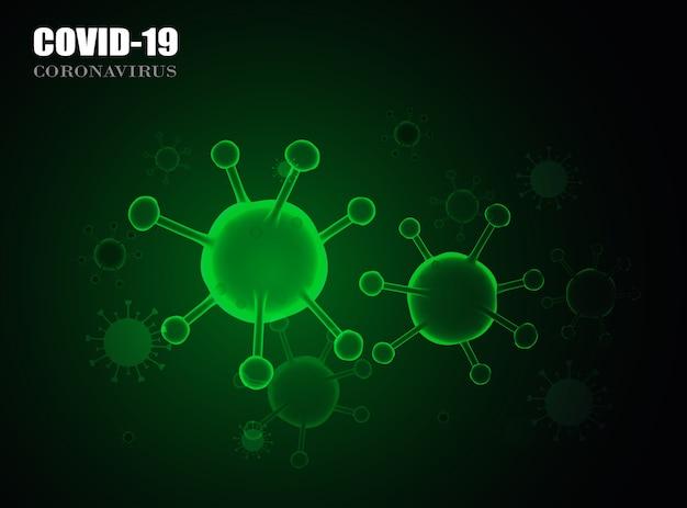 Contexte des coronavirus covid-19. illustration.