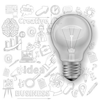 Contexte créatif avec ampoule