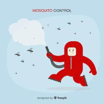 Contexte créatif de contrôle des moustiques