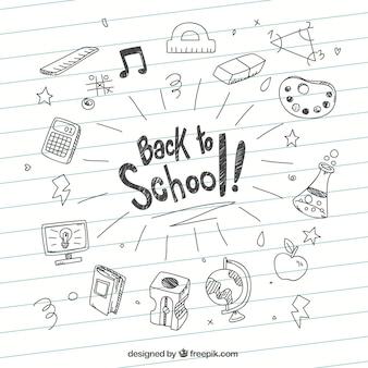 Contexte des croquis de retour à l'école