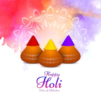 Contexte culturel coloré de happy holi