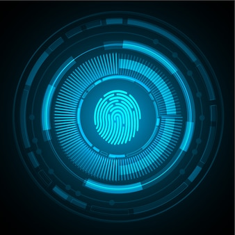 Contexte de cybersécurité du réseau d'empreintes digitales.