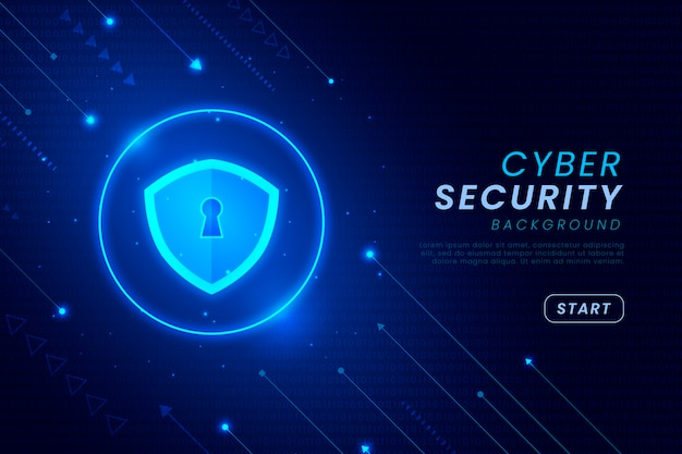 Contexte de la cybersécurité avec des éléments brillants