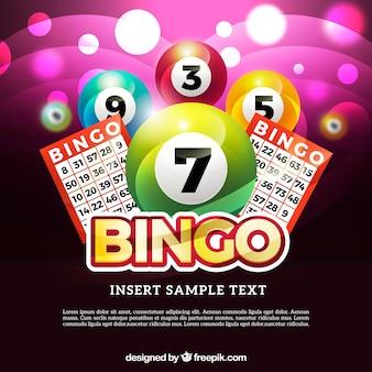 Contexte de bingo brillant