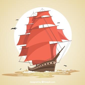 Contexte de galleon majestueux