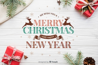 Contexte de Noël et du nouvel an