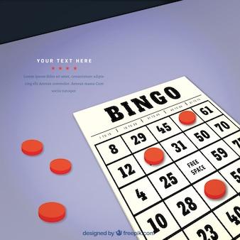 Contexte du bulletin de bingo en style réaliste