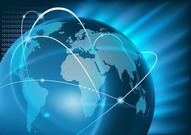 Contexte du commerce mondial internet