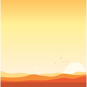 Contexte du désert paysage coucher de soleil