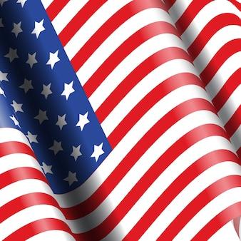 Contexte du drapeau américain idéal pour les célébrations du 4 juillet