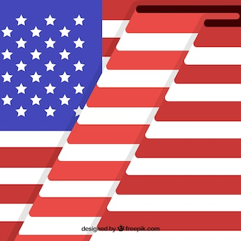 Contexte du drapeau américain avec plis