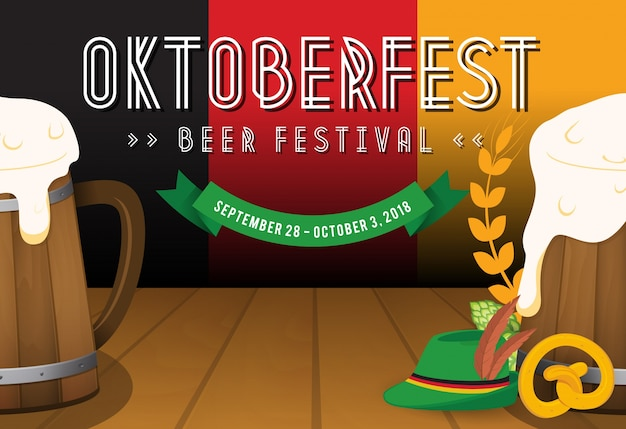 Contexte du festival de la bière oktoberfest