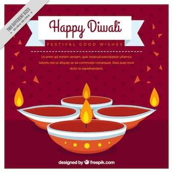 Contexte du festival de diwali heureux