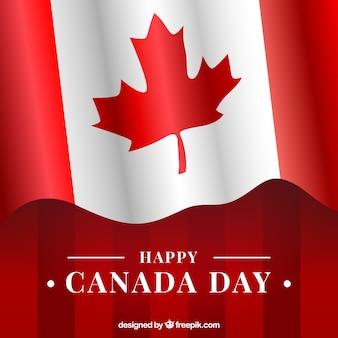 Contexte du jour du canada avec le drapeau canadien