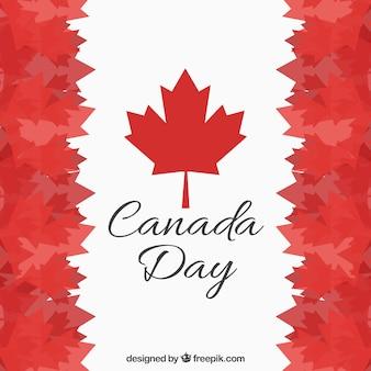 Contexte du jour du canada avec des feuilles en tons rouges