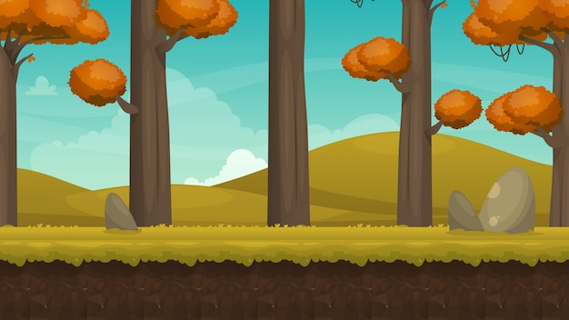 Contexte du paysage d'automne