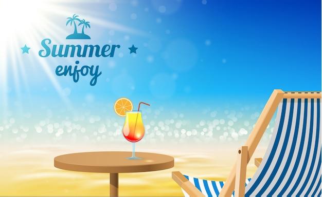Contexte du paysage d'été