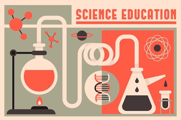 Contexte de l'éducation scientifique design vintage