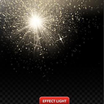 Contexte avec effet de lumières