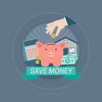 Contexte des éléments pour économiser de l'argent