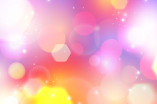 Contexte festif avec des lumières défocalisées