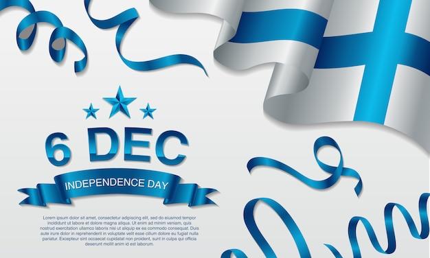 Contexte fête de l'indépendance de la finlande, le 6 décembre.