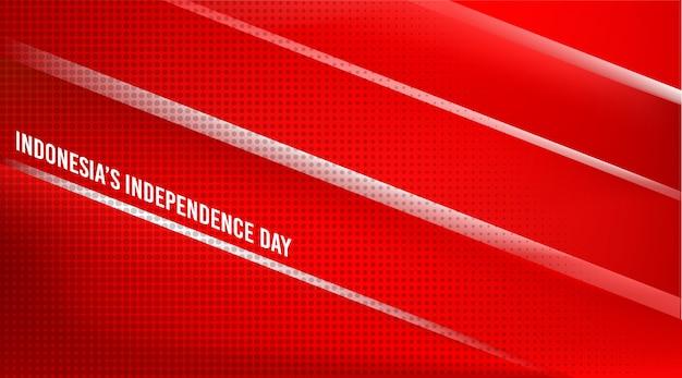 Contexte de la fête de l'indépendance de l'indonésie