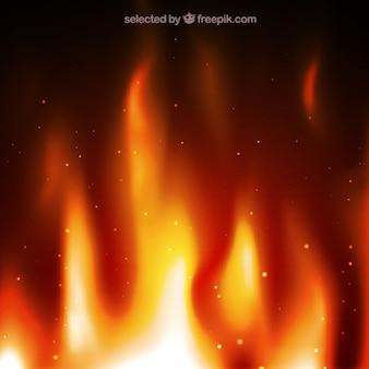 Contexte avec des flammes