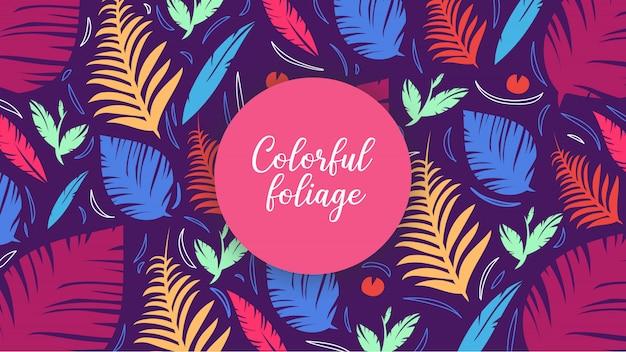 Contexte foliage coloré