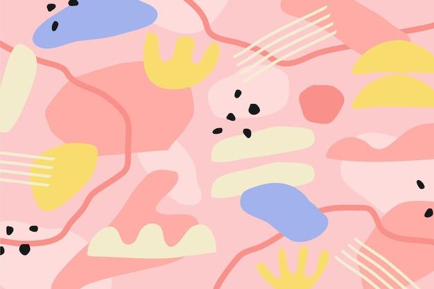 Contexte des formes abstraites colorées