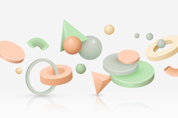 Contexte de formes géométriques anti-gravité