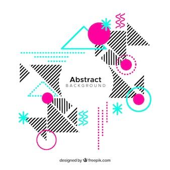 Contexte de formes géométriques et de rayures