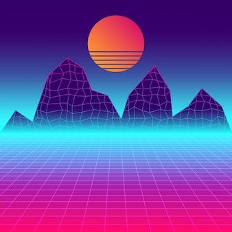 Contexte futuriste abstrait