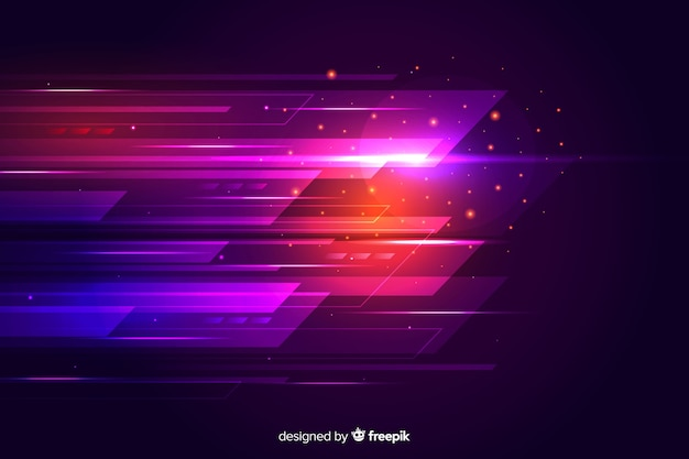 Contexte futuriste du mouvement lumière rougeoyante
