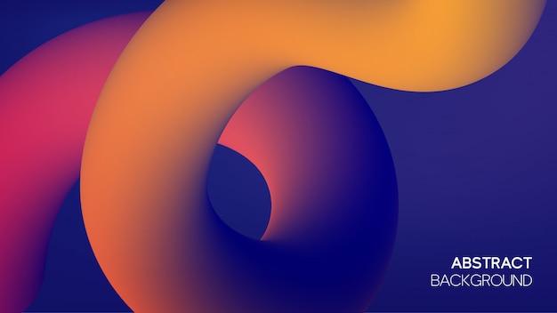 Contexte futuriste avec des formes fluides dynamiques