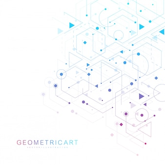 Contexte futuriste moderne du motif hexagonal scientifique. abstrait virtuel avec particule, structure de molécule pour médical, technologie, chimie, science. réseau social