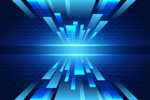 Contexte futuriste de la technologie