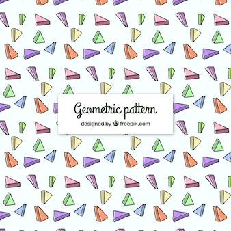 Contexte géométrique dessiné et dessiné à la main