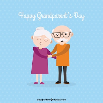 Contexte de grands grands-parents tenant la main