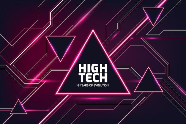 Contexte de haute technologie
