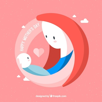 Contexte heureuse fête des mères