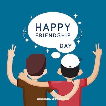 Contexte de la journée de l'amitié avec des amis
