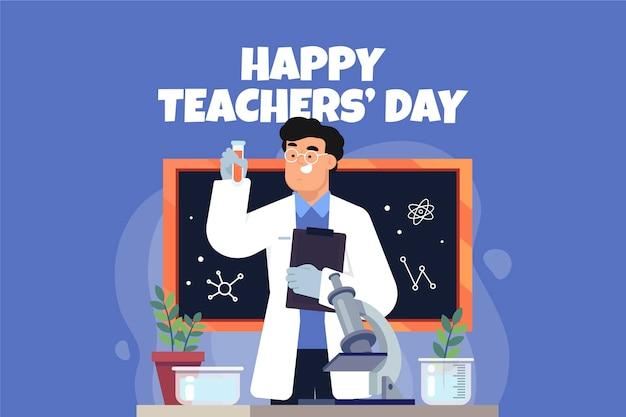 Contexte de la journée des enseignants plats