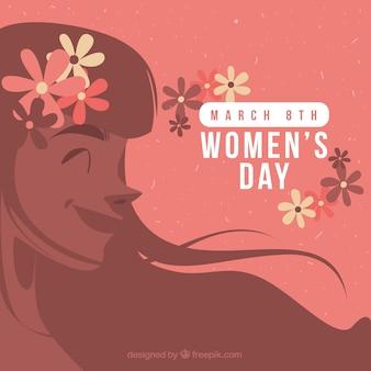 Contexte de la journée des femmes heureux