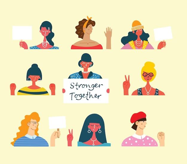 Contexte De La Journée Internationale De La Femme Vecteur Premium