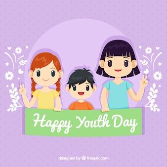 Contexte de la journée des jeunes avec des enfants
