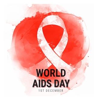 Contexte de la journée mondiale du sida à l'aquarelle