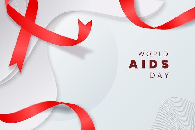 Contexte de la journée mondiale du sida de style papier