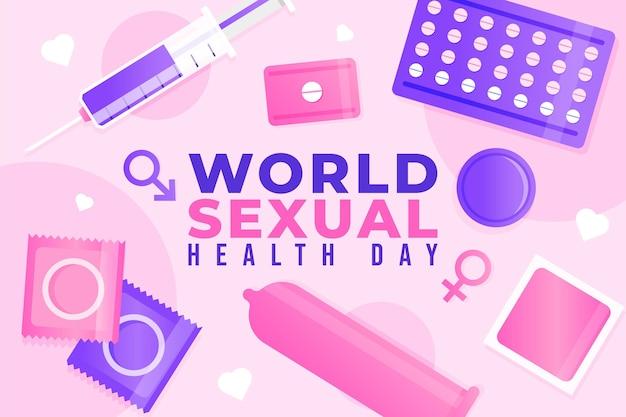 Contexte de la journée mondiale de la santé sexuelle en dégradé
