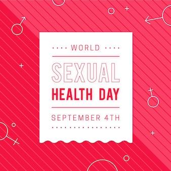 Contexte De La Journée Mondiale De La Santé Sexuelle Vecteur gratuit